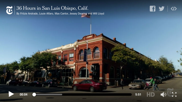 New York Times Highlights San Luis Obispo County