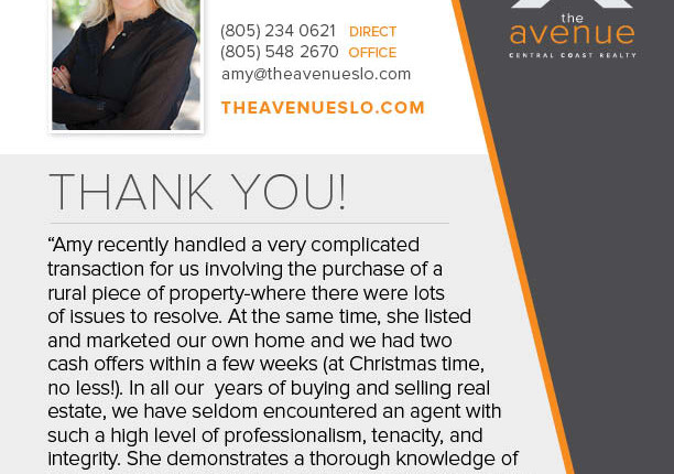 Recent Testimonial For Amy Daane
