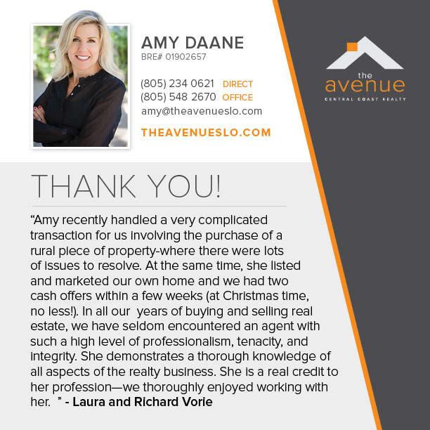 Recent Testimonial For Amy Daane