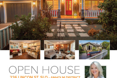 OPEN HOUSE 226 Lincon St, SLO - Anholm District