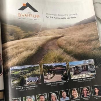 The Avenue Central Coast Realty SLO Life Ad