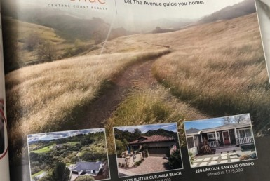 The Avenue Central Coast Realty SLO Life Ad