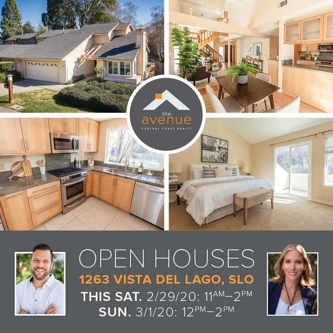 OPEN HOUSES-1263 Vista Del Lago, SLO