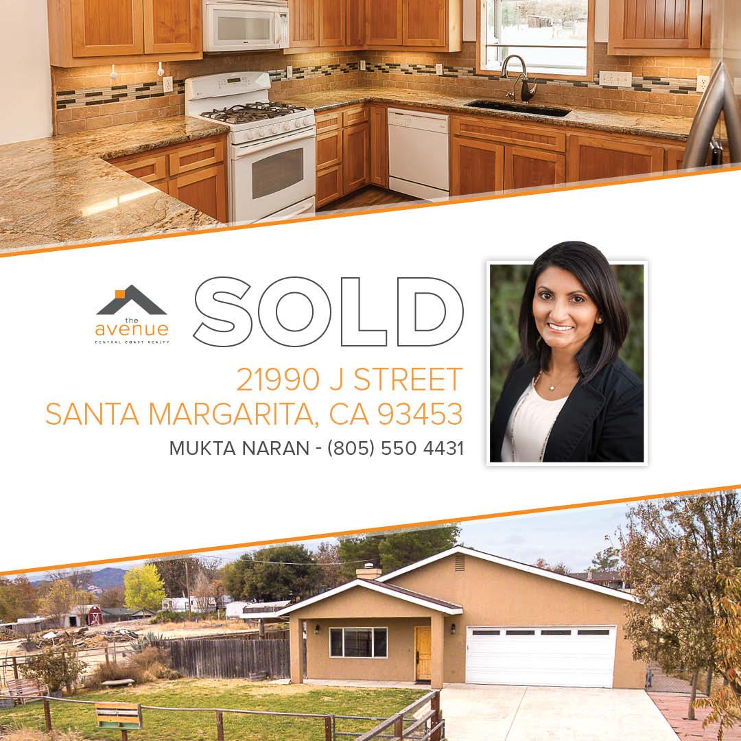 SOLD-Mukta Naran, 21990 J Street, Santa Margarita