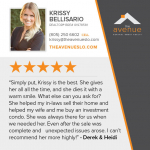 testimonial for Krissy Bellisario