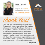Testimonial for Amy Daane