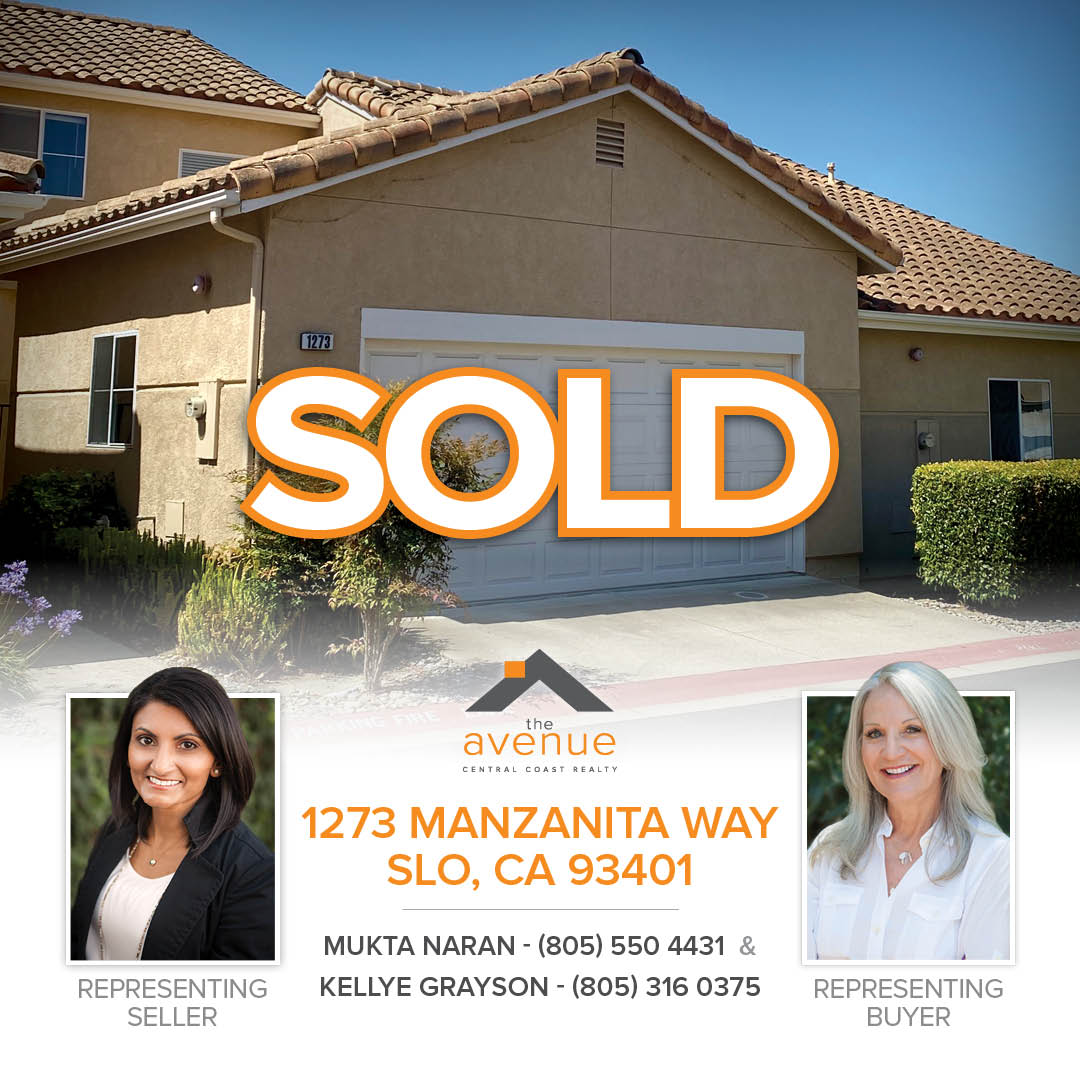 SOLD – 1273 Manzanita Way, SLO