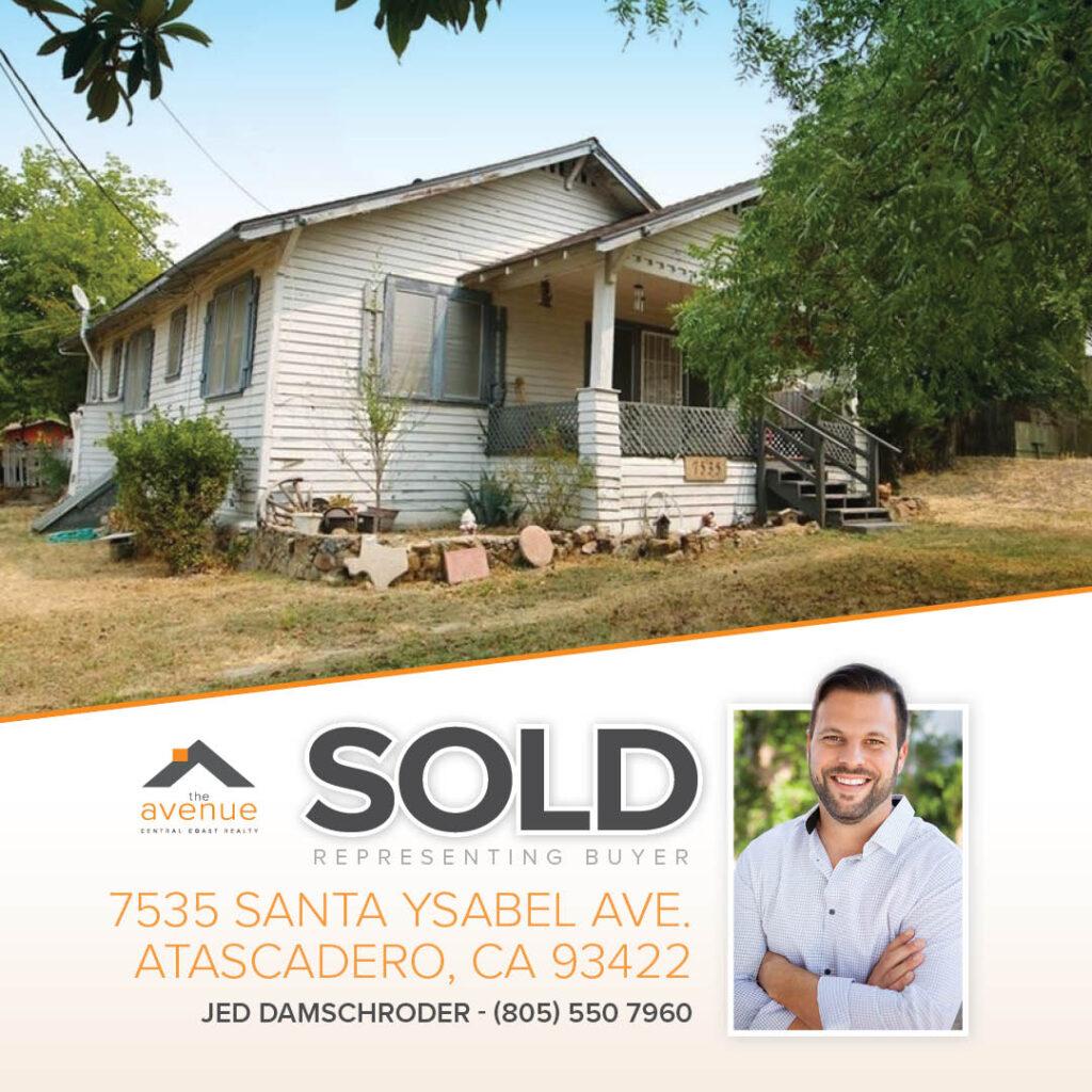 SOLD-7535 Santa Ysabel Ave. Atascadero, CA 93422