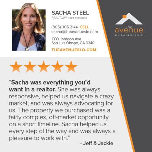 Testimonial for Sacha Steel - Jeff & Jackie