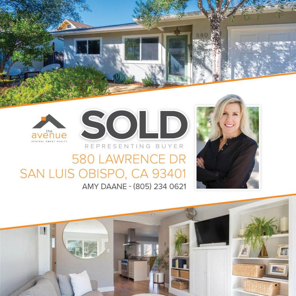 SOLD-580 Lawrence Dr San Luis Obispo, CA 93401, Amy Daane