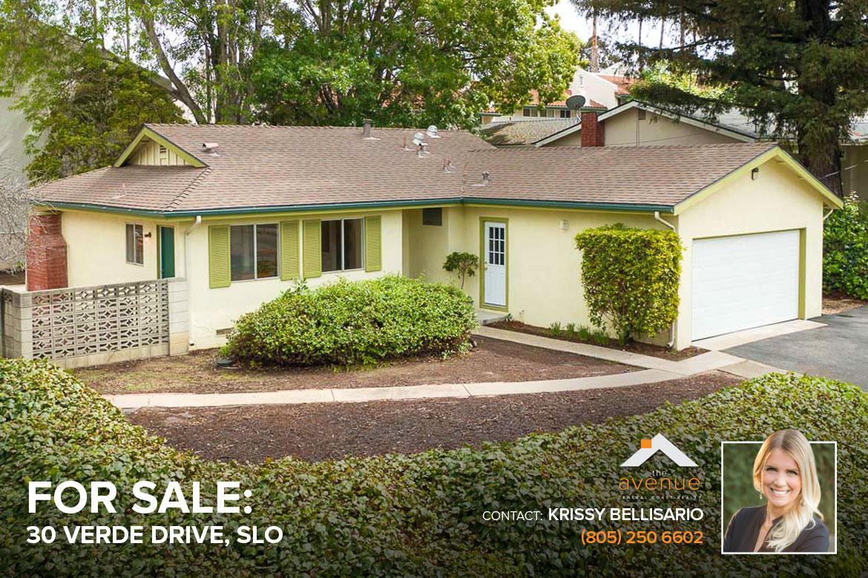 30 Verde Drive San Luis Obispo, CA 93405