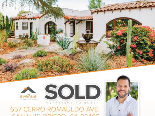 SOLD: 657 Cerro Romauldo Ave., San Luis Obispo, CA 93405