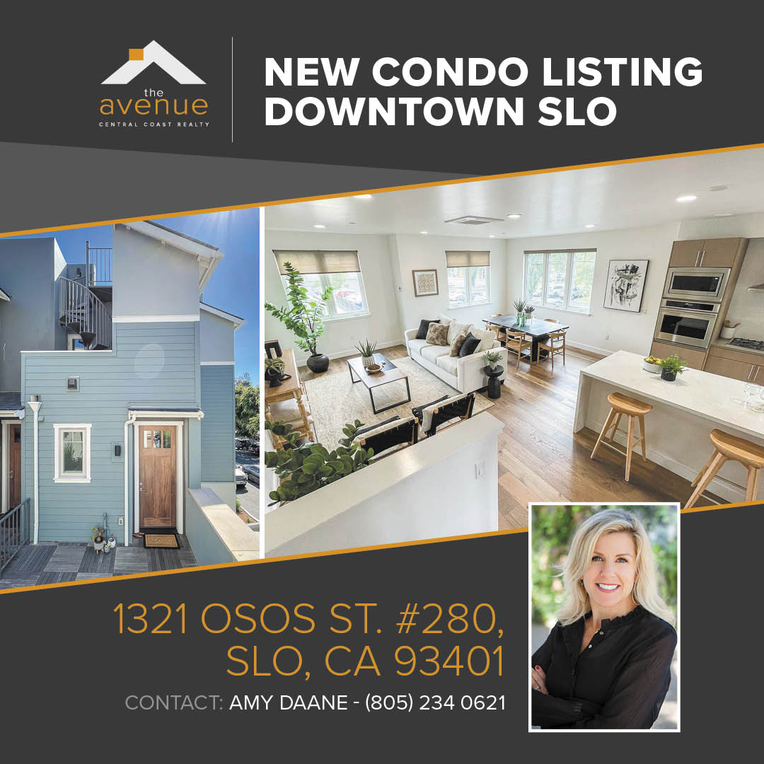 New SLO Condo Listing for Amy Daane